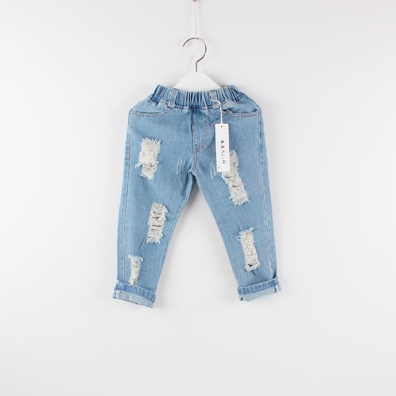 Retail NEW 2-6Y 2014 boys childrens denim long kids spring/autumn jean wear pants free shipping(China (Mainland))