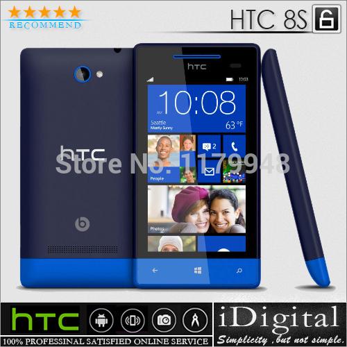 "Original HTC 8S A620e Unlocked Windows Phone 8 4GB Dual Core 1.0GHz 4.0""Super LCD 5.0MP WIFI GPS 3G Smartphone Refurbished(China (Mainland))"