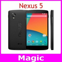 Original Unlocked LG Nexus 5 Cell Phones 4.95 inch touch screen 8MP camera Quad core 4G network Free shipping in stock