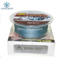 No.1 Quality&Service 4 Strand Grey Color 300M Japan Multifilament Super Strong 100% PE Braid Fishing Line 31LB