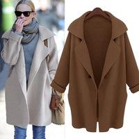 Autumn&Winter, Plus Size Loose Fit Long Women Cardigan, Ladies Knitwear Sweater