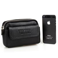 Genuine Leather Waist Bag Passport Wallet for Men Travel Bags Fanny Pack Waist Pack Money Belt Bag Mobile Phone Pouch Bum Bag
