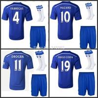 2014/2015 Chelsea home soccer jersey short sock 2015 Chelsea customize LAMPARD DAVID LUIZ OSCAR CAHILL HAZARD MATIC TORRES BA