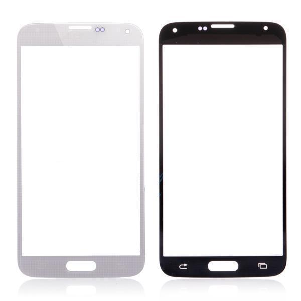 schwarz weiß Front glaslinse äußeren ersatzteile für samsung galaxy s5i9600 g900 versandkostenfrei mit logo