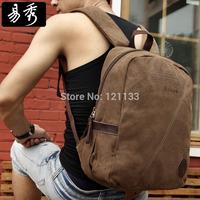 Eshow Brand  men canvas travel bags for Men School Backpacks for camping Rucksack Backpacking Bag BFB002001
