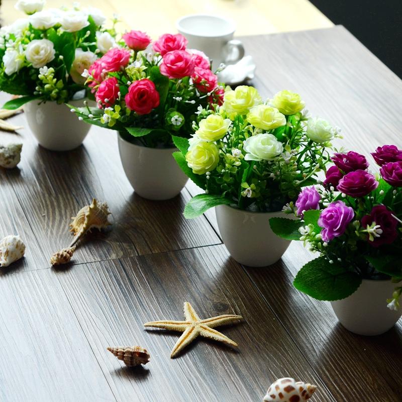 Cute little pot! Artificial flowers artificial flowers wholesale flowers decorate the living room windowsill knickknacks(China (Mainland))