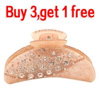 New Design Fashion Sparkle Austria Crystal Rhinestone Hair Claw Clips Headwear Accessories For Women Girl Jewelry  Free Shipping
