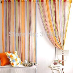 Colorful window curtain for living room rainbow door screen Room Divider Tassel Fringe wedding drapery free shipping(China (Mainland))
