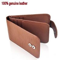 Genuine leather card holder bank card holder wallet hasp multi card holder men's women's