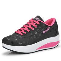 2014 Women Swing Shoes Female Running Shoes Sports Casual Shoes Elevator Platform wedge high heels sneakers tenis feminino