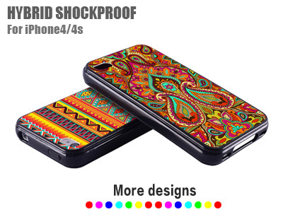 Aztec Silicone Case For Iphone 4 4s Hybrid Rubber Cover For Apple Iphone4 S Wallet I Phone4 Black iphone4s(China (Mainland))