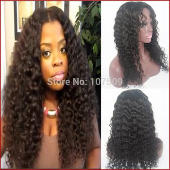 Brazilian full lace human hair wigs for black women updo style kinky ...