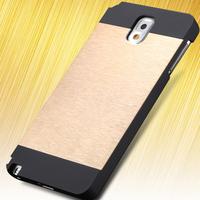 Newest! Motomo Luxury Aluminum Slim  Metal Brush Case For Samsung Galaxy Note 3 III N9000 Hard Phone Back Cover SGS03980
