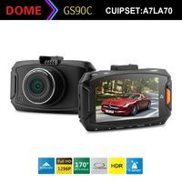 """Ambarella A7LA70 A7LA50 Car DVR Recorder G90 Full HD 1296P 30fps 2.7""""LCD HDR+G-Sensor+GPS H.264 Camera Video Recorder DashCam"""
