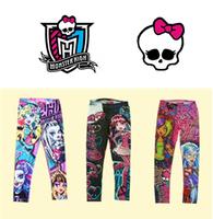 1pcs Free Ship 6-16T Brand Kids Girls Pants, Monster High Leggings.Gilrs Lovery Underwear Girls leggings,kids Pant TopQuality
