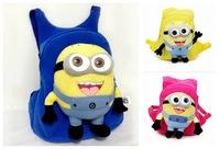 3 Colors 3D Cartoon Despicable Me Children School Bags For Kids Canvas School Bag For Girls Mochila Infantil Kids Backpack