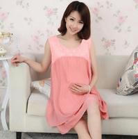 Hot-selling maternity dress maternity summer chiffon one-piece dress lace chiffon double layer casual loose dress doll
