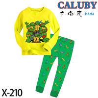 Retail New design NinjaTurtles baby clothing boy pijamas kids sets cotton sleepwear nightgown cartoon costume baby kids homewear