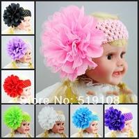 Infant Headband crochet headbands bow infant hair band baby girl waffle head band accessories for hair