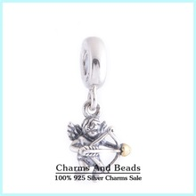 New Cupid Dangle Charm Beads Authentic 925 Sterling Silver God OF Love Thread Beads Fashion Bracelets Jewelry Accessories