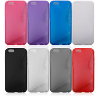 """S Line Soft TPU Gel Skin Back Cover Case For Apple iPhone 6 iPhone6 Plus 4.7'' 5.5"""" for Galaxy Note4 3 S5 Galaxy Alpha Xperia Z2"""