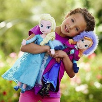 38CM,1PC,Frozen Toys,Plush Stuffed Anna Elsa Frozen Dolls,Drop Free Shipping