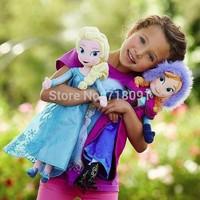 38CM,1PC,Frozen Toys,Plush Stuffed Anna Elsa Frozen Dolls,Drop Free Shipping