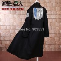 NEW Anime Attack on Titan / Shingeki no Kyojin Scouting Legion Long Men's Jackets Male Dust Coat Cosplay Costume Free shipping