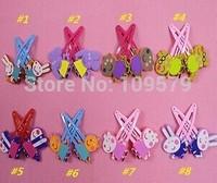 new Free shipping 500PCS/LOT=250pair Peppa pig friend Hairpin Clip Hair Ornament BB Clamp Clip Baby Hair Clip+Hair band