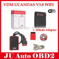 2015 New Orignial Wireless Universal Car Diagnostic Tool VDM UCANDAS Update Online Auto Scanner VDM DHL Free Shipping