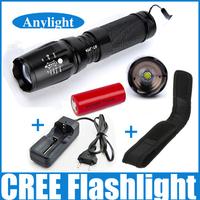 26650 flashlight cree xm-l t6 led torch 18650/26650/AAA battery flashlight+1 * 26650 battery + charger+holster holder WLF53