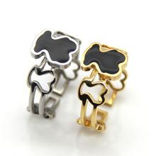 2014 Lovely Bear Ring Brand Love New High Quality Enamel Rings Jewelry For Women Girl