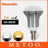 New design E14 linternas bulbs 185-265V 7W Dimmable LED Energy Saving lamps 2835 SMD Super bright led Lighting 6PCS/LOT