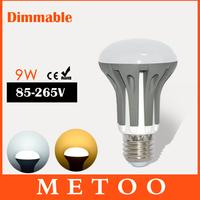 Dimmable LED lamps E27 SMD 2835 220V 9W led Light Spotlight Bulb High quality led bulbs Lighting 12pcs/lot wholesale