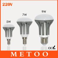 New Arrival E14 E27 LED Dimmable 5W 7W 9W lanterna Bulbs  Energy Saving bright SMD 2835 led lustres 220V lamps lighting 1pcs/lot