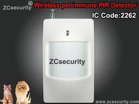 High Sensitivity Wireless PIR Pet Immune Motion Sensor Infrared Detector 433Mhz/315Mhz 5pcs/lot