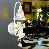 Wholesale 2014 new design Modern Fashion Angel children Wall lamp white sculpture Balcony Wall lights hotsell Freeshipping