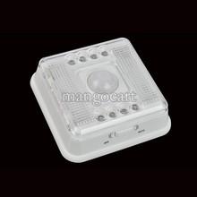Promoción caliente infrarrojo inalámbrico 8 lámpara de luz LED PIR Auto Sensor Case White Movimiento Batería # 8 TK0035(China (Mainland))