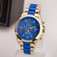 2015 new Geneva Brand watches Mens Women wristwatches with ROMA watche Dial Blue /White watches Top quality-RA001-a