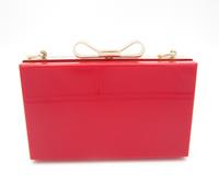 new fashion acrylic bow clutch,mini evening clutch,elegant prom handbag wedding clutch,jewelry case bag,lady chain shoulder bag