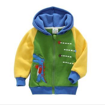 Мужской дети ребенок верхняя одежда утолщение свободного покроя кардиган куртки ребенка весной и осенью пункте милые детской одежды 1295