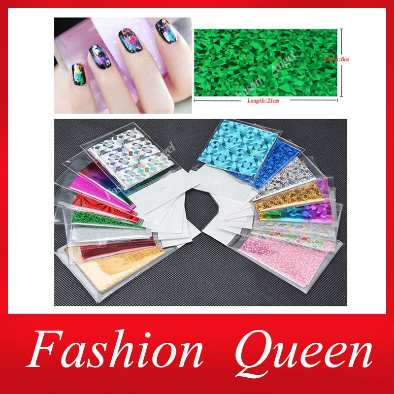 Nail Art Stickers, 50Designs Nail Transfer Foil Decals,25pcs/lot Foils Polish Adhesive Wraps,DIY Nail Beauty Craft Accessories(China (Mainland))