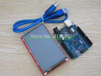 3.5 inch TFT LCD Touch Screen Display Module + Uno r3 Development Board Compatible For Arduino UNO R3 + USB Cable