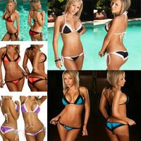 High Quality Drop & Free Shipping 2014 Sexy Bikini Sexy Women's Swimsuit Shoulder Strap  Beach Swimwear