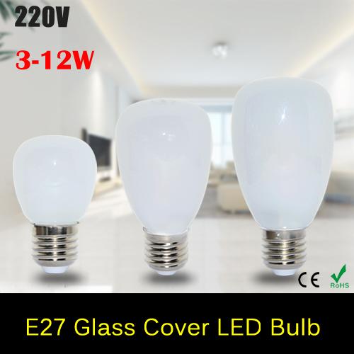 1Pcs NEW Arrival Glass Cover LED lamp E27 3W 5W 7W AC 220V 240V Bubble Ball LED Bulb 2835 SMD Pendant lights Chandeliers(China (Mainland))