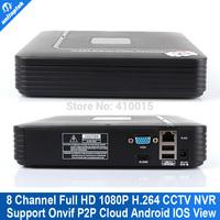 8CH cctv NVR Smart Mini 1U Network Video Recorder HDMI/VGA Output 8 channel 1080P Phone view Onvif NVR P2P Cloud MAX 4TB HDD