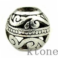 (10 Pieces/Lot ), 2014 New 925 Silver Beads,European Hollow Out Vintage Wave Bead Fit pandora style Bracelets & Chamilia ,SPB011