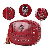 VEEVAN Women handbag fashion Women's shoulder Crossbody Bags skull rivet punk bag desigual Women's Messenger Bags bolsas
