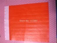 Free Shipping  Tyvek Wrist Band ,Orange Color ,Tyvek band 200pcs/lot SD-TY2