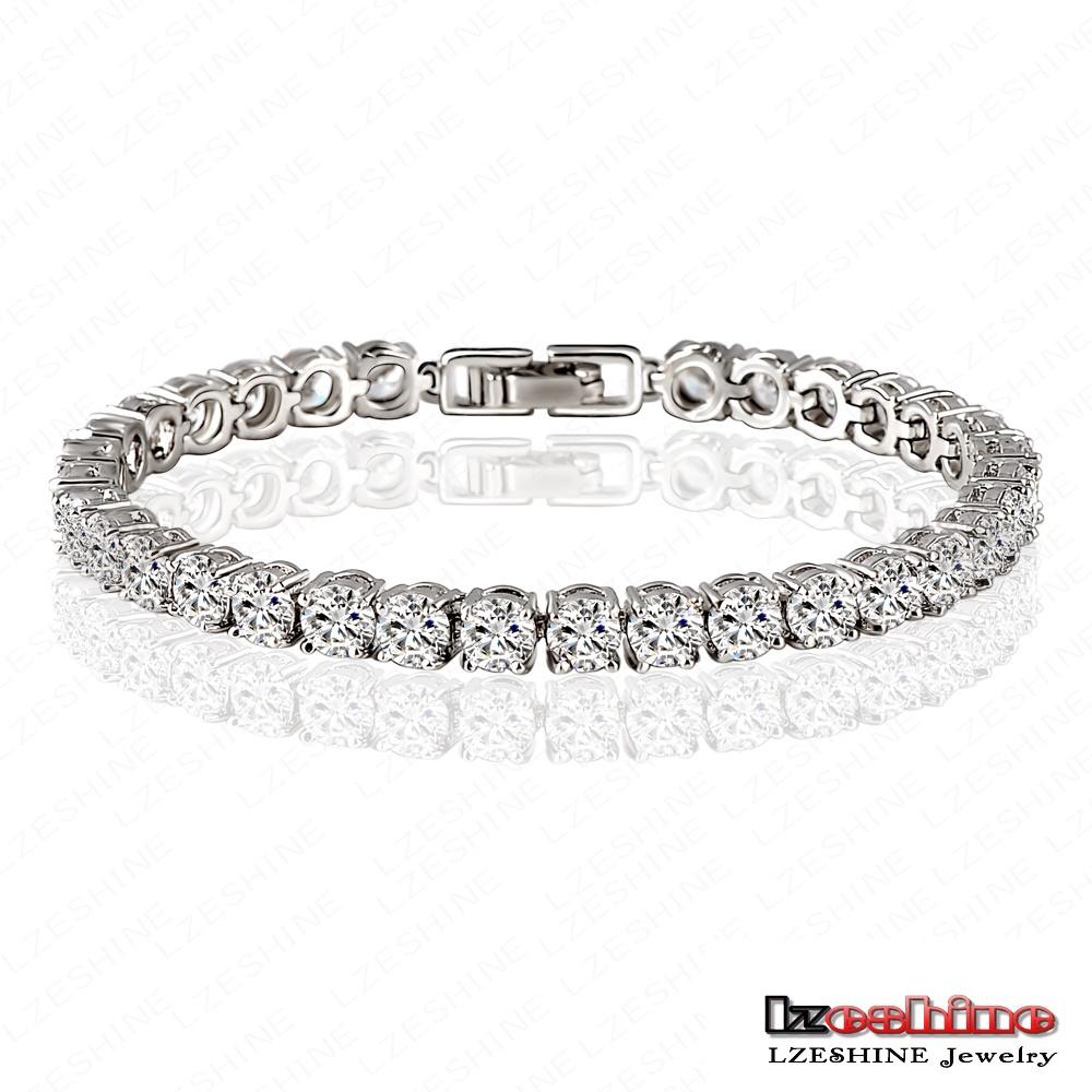 Big Sale 70% Off Bracelet Zircon Jewelry AAA Round 0.5 Carat Swiss Cubic Zirconia Tennis Micro Inlay Bracelets & Bangles CBR0005(China (Mainland))